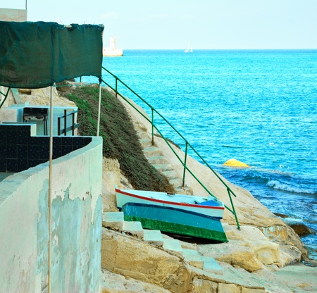 fisherman village in Malta photo