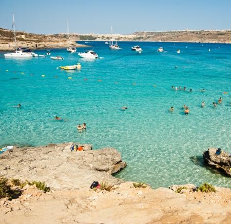 azure coast: azure coast and beach in Malta