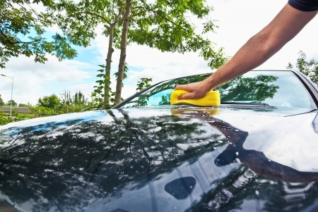 hand car cleaning photo