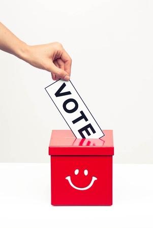 holding a vote ballot Stock Photo - 15704683