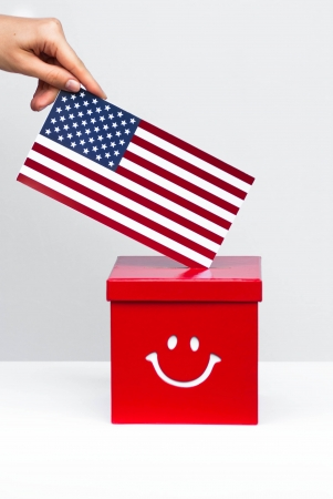 hustings: presidential election in usa Stock Photo