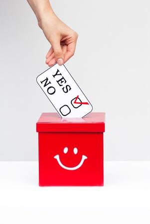 hustings: ballot box and ballot