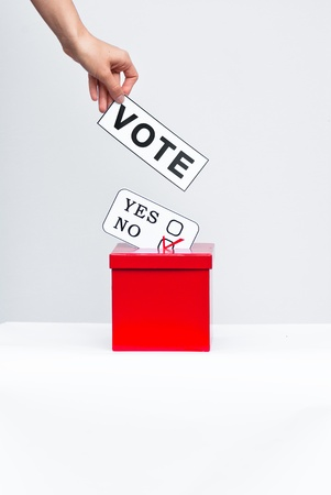 hustings: vote Stock Photo