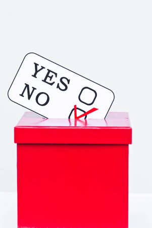 hustings: assertiveness concept with no ballot Stock Photo