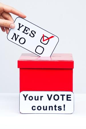 hustings: yes vote