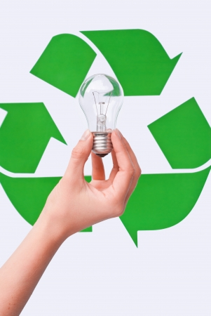 energy saving with bulb photo