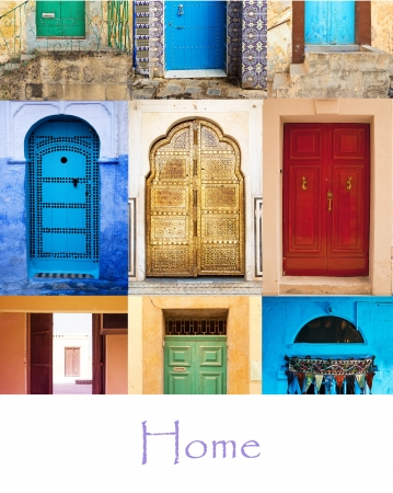 Collage with doors in squere shape Stock Photo - 15845205