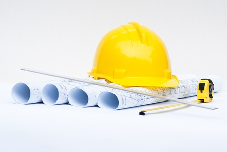 architectural projects and construction helmet