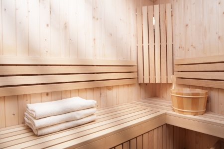 wooden sauna Stock Photo - 17258076
