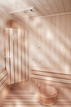 light in sauna photo
