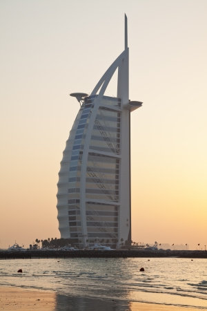 sunset view on Burj al Arab photo
