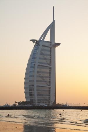 sunset view on Burj al Arab 免版税图像 - 50972667