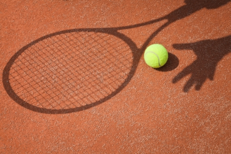 tennis shadow abstract photo