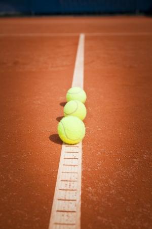 tennisballen op uitlijn