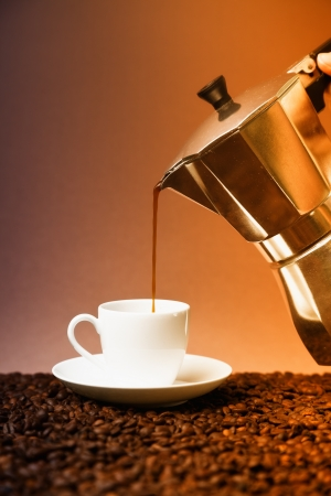 pouring fresh coffee photo