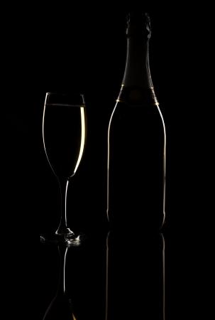 luxury champagne background Stock Photo