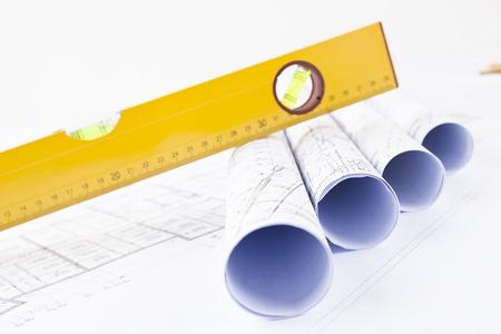level and construction blueprints