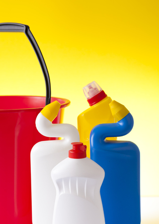 tidiness: cleaning detergents closeup