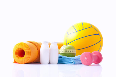 sport equipment isolated on white photo