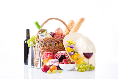 wine tasting and summer picnic concept photo