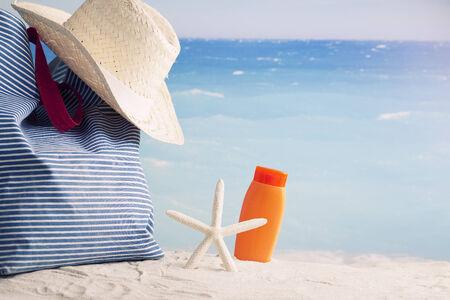 inclusive: all inclusive vacation backdround Stock Photo