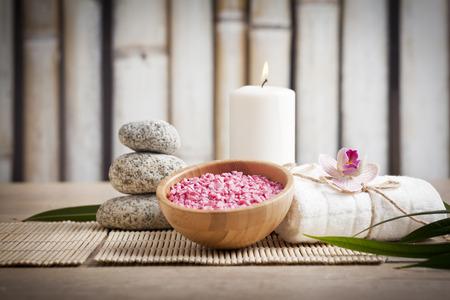 peluqueria y spa: concepto ayurveda para la serenidad y la meditaci�n Foto de archivo