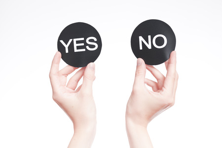 electoral system: Yes or no decision Stock Photo