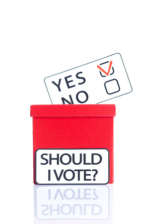 should I vote, voting concept photo