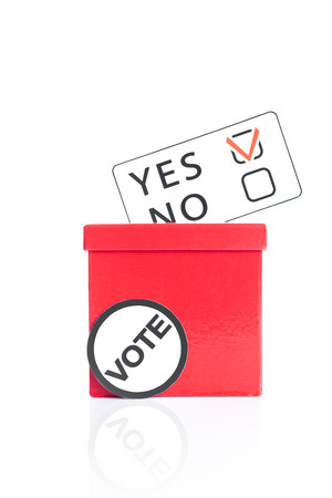 local council election: Yes or no decision Stock Photo