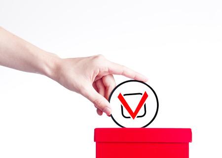 local council election: voting concept