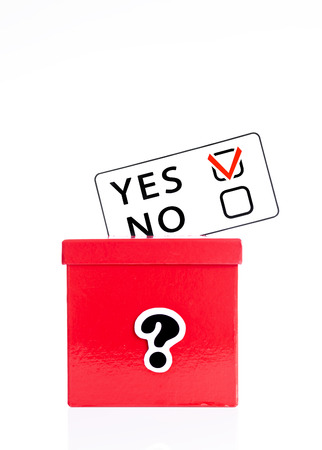 local council election: making decision,voting Stock Photo