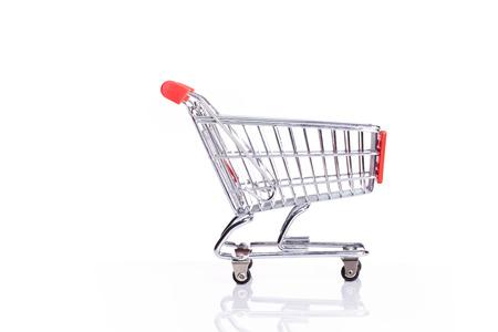isoalated: shopping cart isoalated on white background