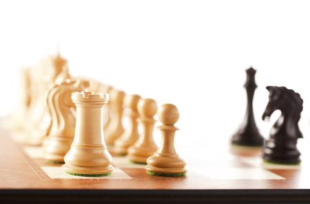 jugando ajedrez: jugando al ajedrez Foto de archivo