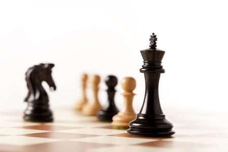 Spelen houten schaakstukken Stockfoto