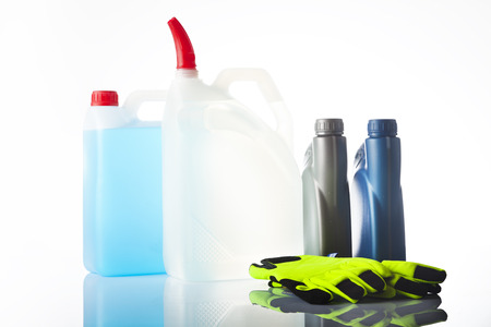 fluids: group of car accessories including windshield washer fluids