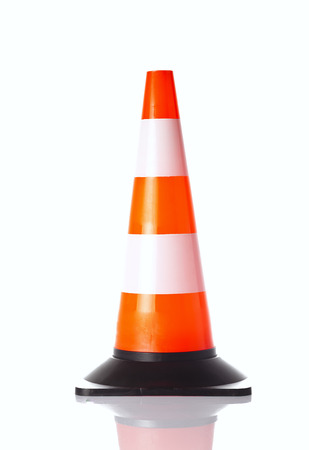 traffic   cones: traffic cone isolated on white