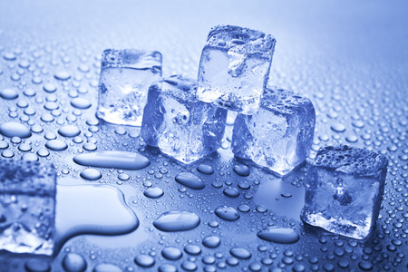 melting ice: melting ice cubes Stock Photo