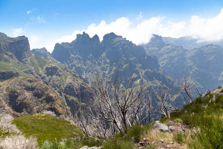 Mountaiouns of Madeira Islandview from Pico Ruivo Stock Photo