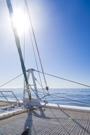 catamaran: relax on Catamaran Sailing Boat