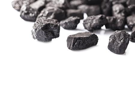 black coal lumps copy space