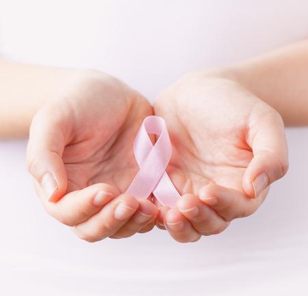 seni: seno rosa consapevolezza del cancro nastro Archivio Fotografico