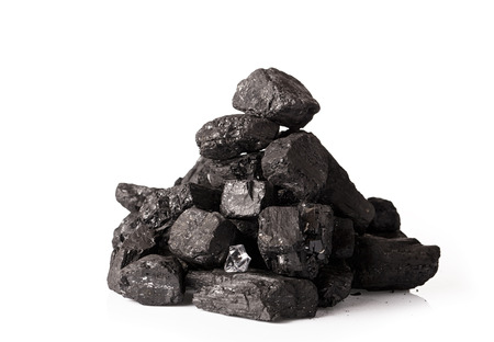 coal: Coal stack isolated on white background