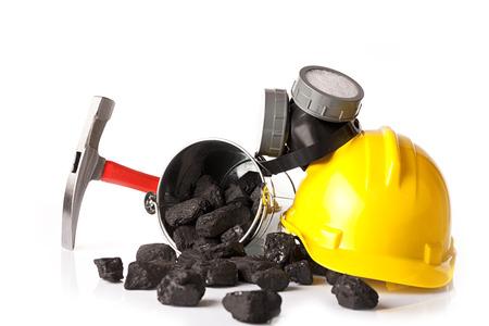 calorific: miners equipment Stock Photo