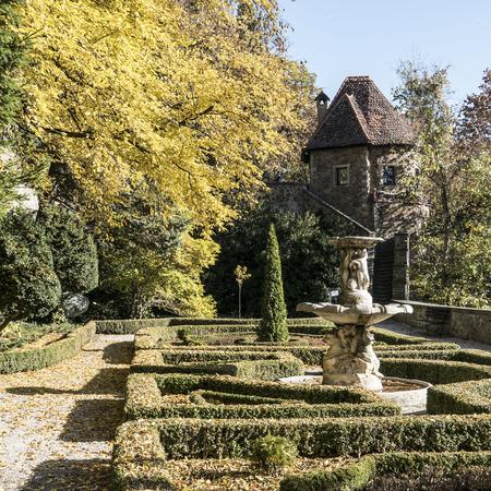 faade: gardens around Ksiaz Castle in Walbrzych, Poland