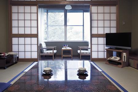 Kamikochi, JAPAN- MAY 22.2016: Interior of a traditional Japanese room.