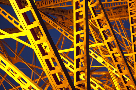 steel construction, close up on Tokyo tower at night