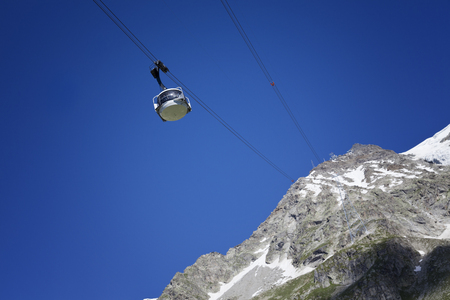 courmayeur: skyway cable car of Monte Bianco