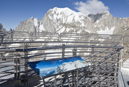 panoramic terrace of Punta Helbronner new SKYWAY MONTE BIANCO terminal in Aosta Valley region of Italy Stock Photo