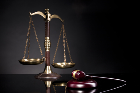 scale of justice and jurges gavel