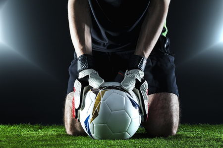 The football concept with goalkeeper